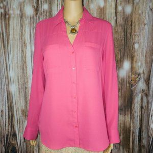 Express Portifino Top Fuscia Size Medium